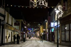 Fort William High Street at Christmas